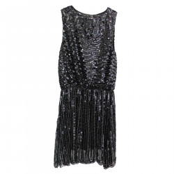 BLACK DRESS IN PAILETTES