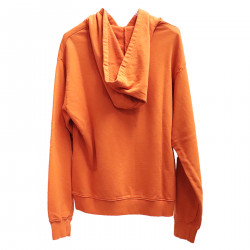 ORANGE SWEATER WITH HOOD