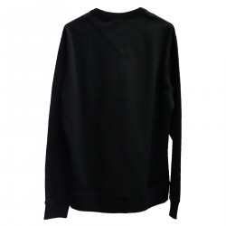 BLACK SWEATER WITH WRITING