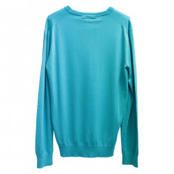 TURQUOISE COTTON PULLOVER