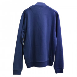 BLUE SWEATER WITH WRITING