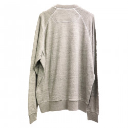 GRAY SWEATER WITH WRITING