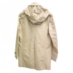 BEIGE TRENCH WITH HOOD