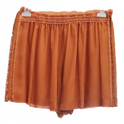 BROWN SHORTS WITH LACE