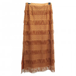 BRONZE LONG SKIRT WITH FRINGES