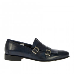 BLUE MONK SHOE WITH FRINGES