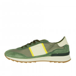 GREEN WHITE AND GREY TOUJOURS SNEAKER
