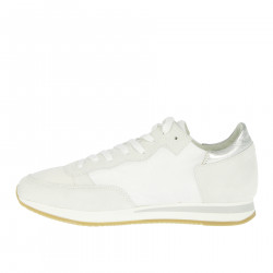 WHITE AND SILVER TROPEZ SNEAKER