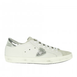 WHITE AND SILVER PARIS SNEAKER
