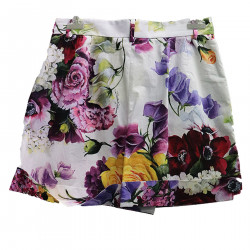 WHITE SHORTS WITH FLOWER FANTASY