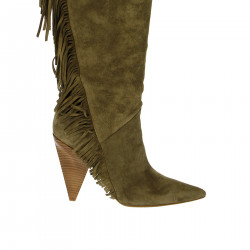 BEIGE BOOT WITH FRINGES