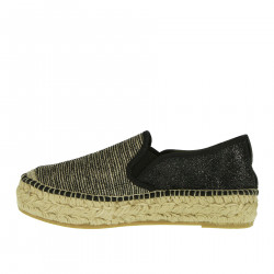 EMILY GREY AND BLACK ESPADRILLAS