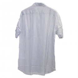 STRIPED BLUE AND WHITE SHIRT