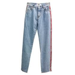 BLUE JEANS WITH SIDE LINES