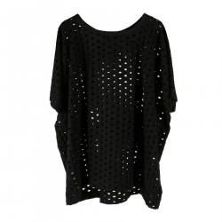 PERFORATED BLACK JERSEY