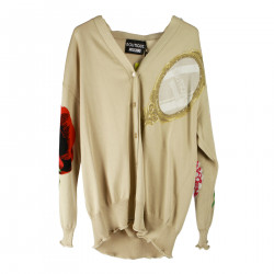 BEIGE EBROIDERED CARDIGAN