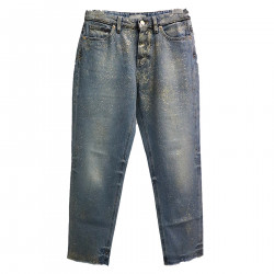 LIGHT BLUE JEANS WITH SHINKS