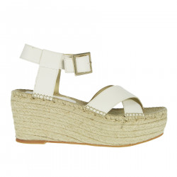 MICOL WHITE WEDGE SHOE
