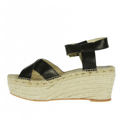 MICOL BLACK WEDGE SHOE