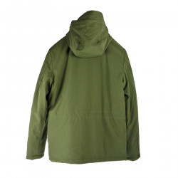 MILITARY GREEN JACKET WITH HOOD