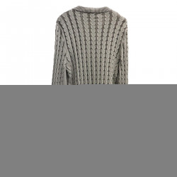 GRAY CARDIGAN IN COTTON