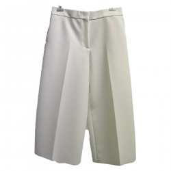 WHITE TROUSERS WITH POCKETS