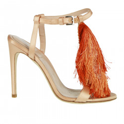 PEACH SANDAL WITH FRINGES
