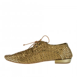 BRONZE BRAIDED LACE UP SHOE