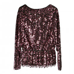 PINK TOP IN PAILETTES