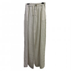 LIGHT BEIGE PANTS WITH COULISSE