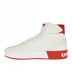 WHITE AND RED BASKET SNEAKER