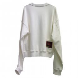 WHITE SWEATER WITH DRAWING