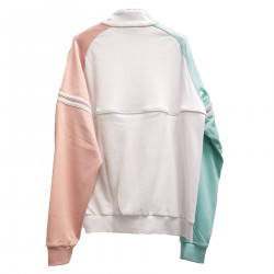 WHITE PINK AND LIGHT BLUE SWEATER