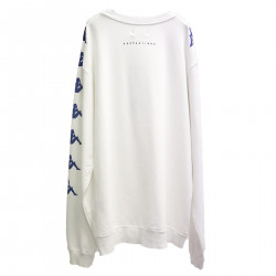 WHITE SWEATER IN COTTON