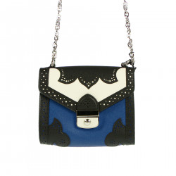 BLUE AND WHITE BAG WITH FANTASY