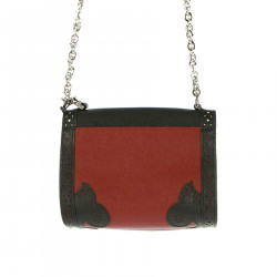 WHITE AND RED SHOULDER BAG WITH FANTASY