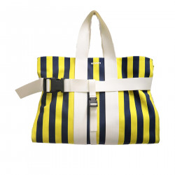 STRIPED LARGE BAG