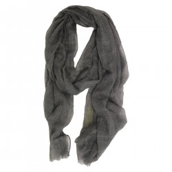 GRAY SCARF IN CASHMERE