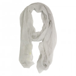 LIGHT GRAY SCARF IN CASHMERE