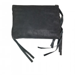 BIKER GREY CLUTCH BAG