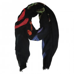 BLACK SCARF WITH FANTASY