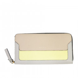 BEIGE WALLET IN LEATHER