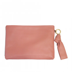 PINK POCHETTE IN LEATHER