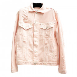 LIGHT PINK JACKET IN COTTON