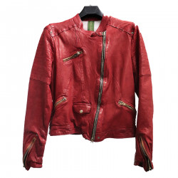RED JACKET IN LEATHER