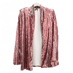 PINK JACKET IN PAILETTES
