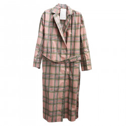 PINK CHECKED TRENCH