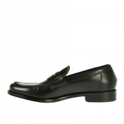 BLACK MOCASSINO IN LEATHER