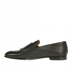 BLACK MONK SHOE IN LEATHER