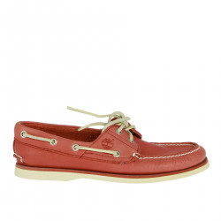 LIGHT RED MOCASSINO IN LEATHER